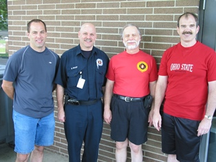 Standing left to right are Pat Guay, Chris Guay, Charles Legg, and Ollie Mabry who were my firefighter crew that helped so much with computerizing the Columbus Fire Department in 1995 to 2008.
